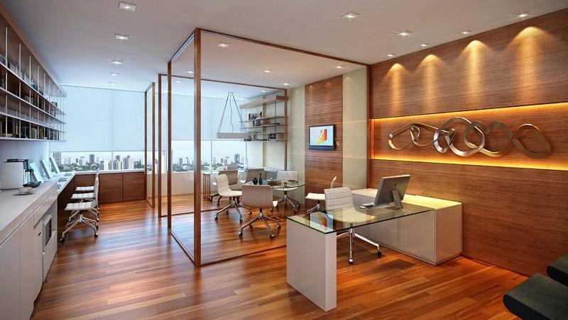 Projeto de iluminação para escritórios (Viva Decora)