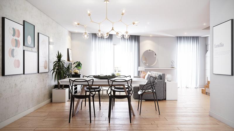 Sala de jantar com decoração elegante (Priscila Kunenn)