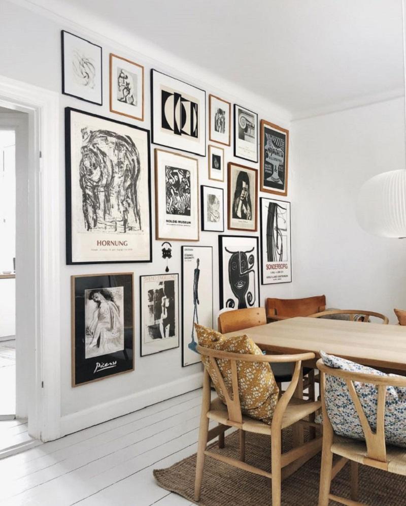 Obras de arte decoração escandinava
