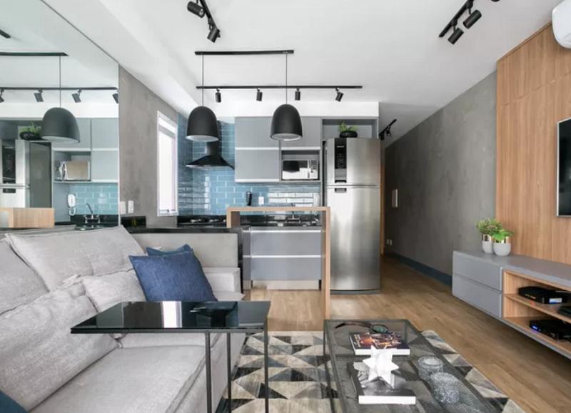 Projeto de iluminação para sala de estar