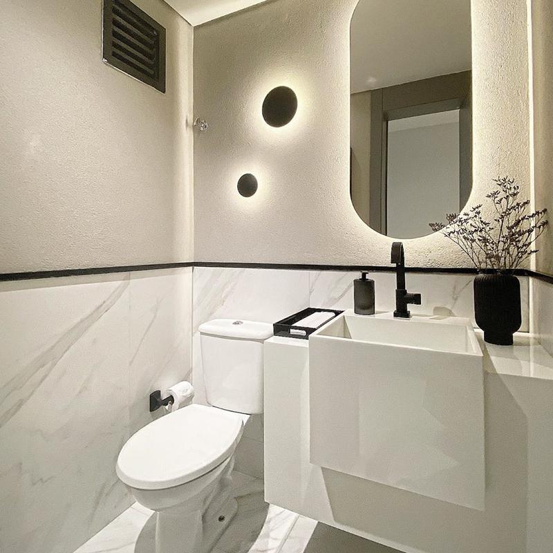 Luz direta difusa é a mais recomendada para lavabos