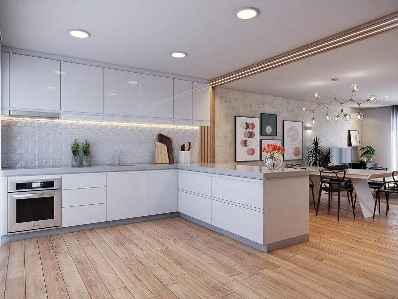 Traga conforto para a cozinha sem esquecer do aspecto funcional